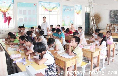 长青中国情暖留守儿童 携70余名大学生志愿者下乡支教图片
